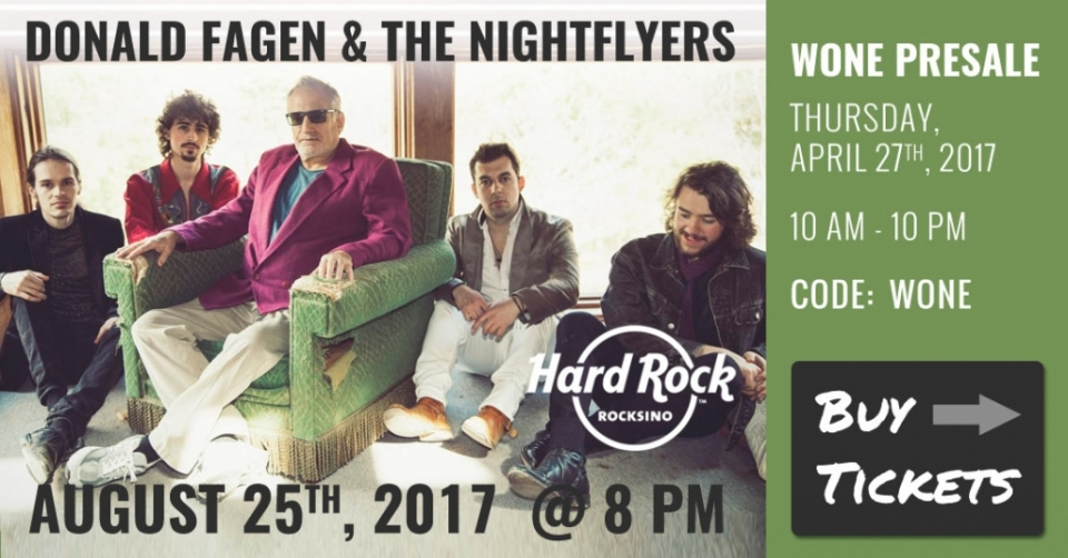 Donald Fagen & The Nightflyers Presale Tickets