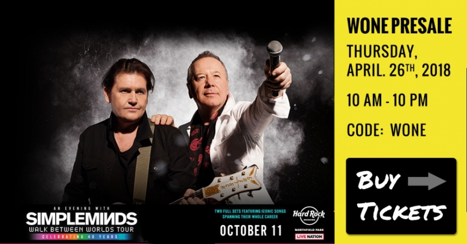 Simple Minds Presale Tickets