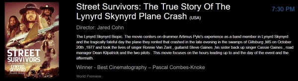 Finally the Lynyrd Skynyrd Plane Crash Movie!