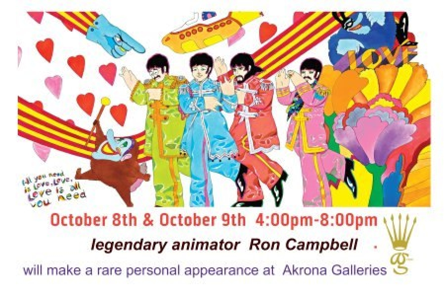 Meet Beatles Animator Ron Campbell tomorrow night!