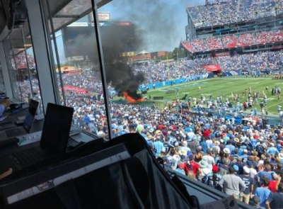 Fire at Titans Game