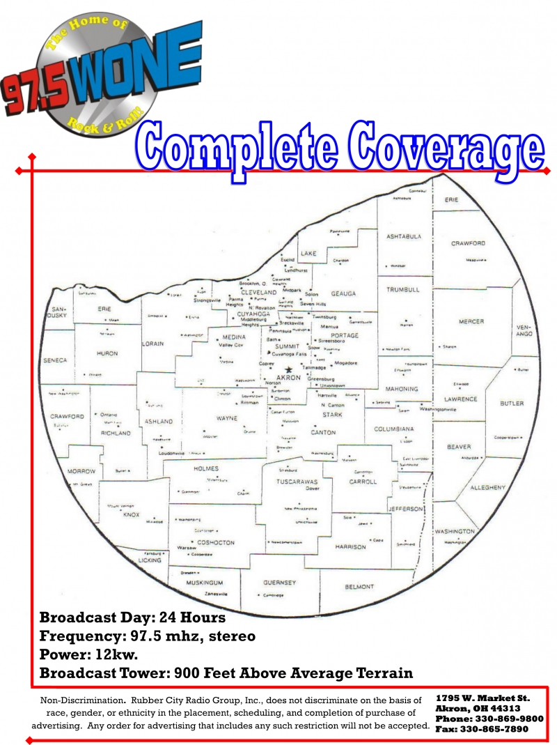 WONE Coverage Map