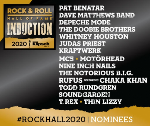Rock Hall Nominees for The Class of 2020; My Take